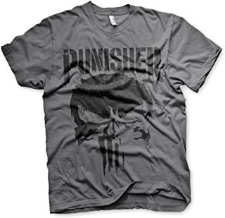 Oficialmente Licenciado Marvel'S The Punisher Big Skull Camiseta para Hombre (Gris Oscuro)