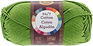 Lion Brand Yarn 761-172 24-7 Cotton Yarn, Grass