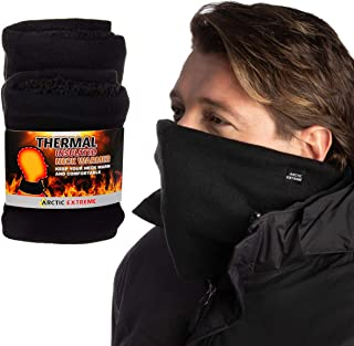 Arctic (2 Pack) Thick Heat Trapping Thermal Neck Warmers Gaiters Fleece Unisex
