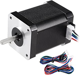 uxcell Stepper Motor Nema 17 Bipolar 20mm 0.56NM 1.2A 3.5V 4 Lead Cables for 3D Printer CNC Router Laser Lathe Machine Stage Light Control DIY Hobby
