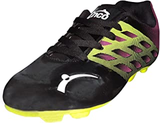 Enco Football Sports Shoes Nitro 1.0 Light Weight Soccer BLK/FLU GRN/MAUV