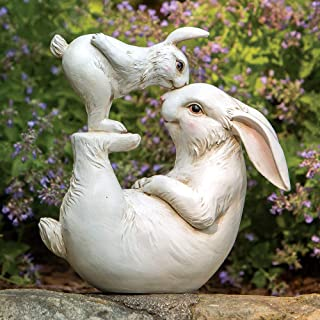 Bits and Pieces - Love Some Bunny Garden Sculpture - WhimsicalHome or Garden Decorative Animal Statue