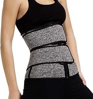 Vaslanda Womens Neoprene Sauna Suit Breathable Waist Trainer Corset Shapers Slimming Belt Weight Loss