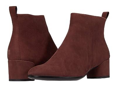 ECCO Shape 35 Mod Block Boot (Chocolate) Women