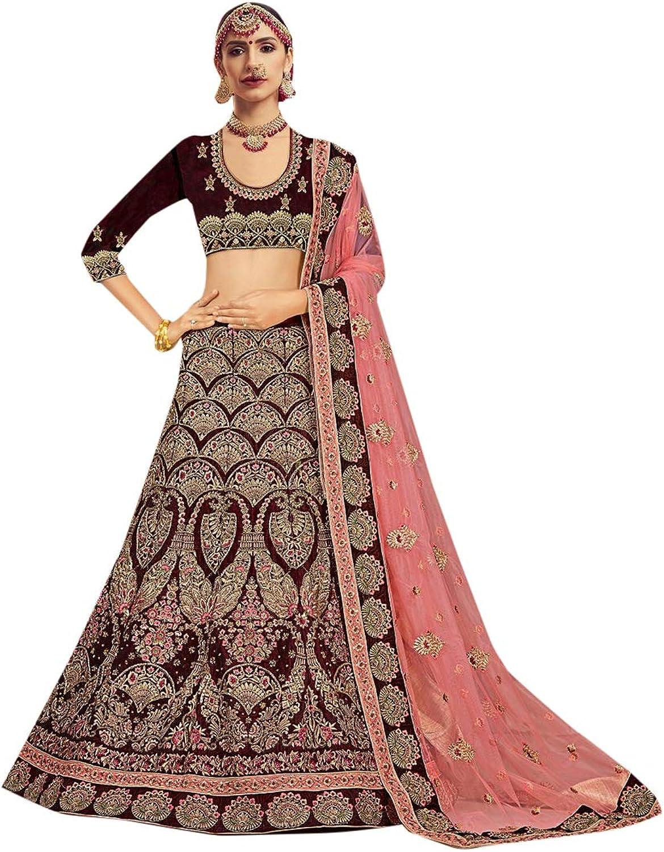 Indian Ethnic Heavy Lehenga Chaniya Choli Designer Collection Sari Party Wedding Wear 7279