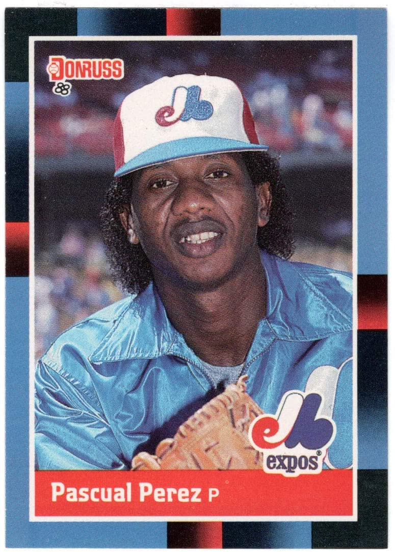 Pascual Perez - Montreal Expos Baseball Donruss Popularity Card Large special price !! 59 1988 #