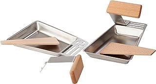 "hecht internationell grilltillbehör, grillpanna""Gustico"", 2-pack, silver, 17 x 11 x 2 cm, 201270219-HE"