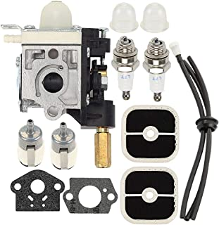 Coolwind SRM-266 Carburetor with Air Filter Tune-up Kit for Echo SRM-266S SRM-266T SRM-266U PAS-266 PPT-266 PPT-266H PE-266 PE-266S SHC-266 HCA-266 Trimmer Weedeater RB-K112 A021003830