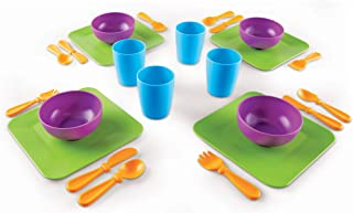 Learning Resources New Sprouts Serve It! Dish Set, Early Social Interactions, 24 Piece, Ages 2+