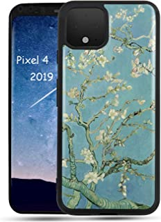 AIMUHOGlossy Case for Google Pixel 4 2019, Anti Slip Art Painted CrystalCase Ultra Slim Fit Shockproof Case forGoogle Pixel 4 - Almond Blossom by Van Gogh