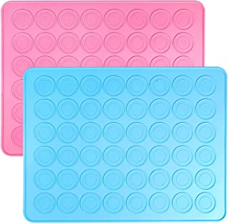 Auzzlife Macaron Silicone Baking Mat Set of 2 Half Sheet 11 5//8 x 16 1//2 Premium Non Stick Silicon Bake Pans for Toaster Oven Tray//Pan Liner 14 Piping Tip,2 Piping Bag with 2 Bag Tie,1 Coupler