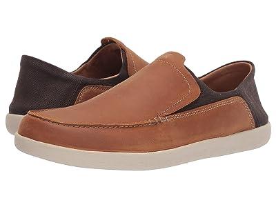 Clarks Un Lisbon Lane (Tan Oily Leather/Textile) Men