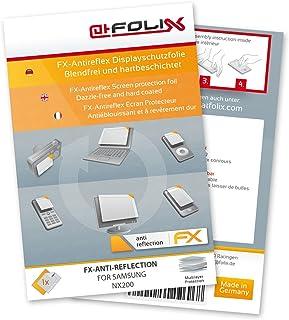 atFoliX Panzerfolie kompatibel mit Samsung NX200 Schutzfolie, entspiegelnde und stoßdämpfende FX Folie (3X)