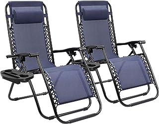 Homall Zero Gravity Chair Patio Folding Lawn Lounge Chairs Outdoor Lounge Gravity Chair..