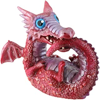 StealStreet Red Baby Dragon Collectible Serpent Figurine Reptile Sculpture