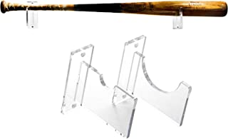 Better Display Cases Clear Acrylic Wall Mounts and Display Stands for Baseball Bats