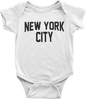 Screen Printed New York City Baby Bodysuit Screen Printed Lennon Retro Style