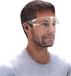 Steelbird Goggle Style Anti-Fog Face Shield with 180° Safety Coverage : Anti-Scratch Coated Glasses and Clear Face Visor -...
