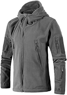 Small Oranges Men Jacket Coat Tactical Military Jacket Wool Jacket Softshell HoodedCasual Trekking Thermal