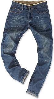 Demon&Hunter 806 Series Hombre Regular Corte Recto Pantalones Vaqueros, DH8031 x Azul x Normal, 36W