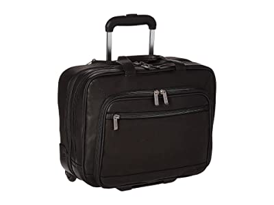 Kenneth Cole Reaction Wheel Be Okay Wheeled Leather Porfolio (Black) Computer Bags