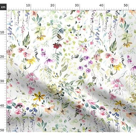 Feldblumen ÖKO TEX Blumen Single Jersey Stoff