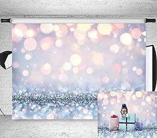 7x5ft Stylish Simplicity Bling Theme Bokeh (Not Glitter) Backdrop Dreamy Silvery White Spots Photography Background Baby Shower Birthday Carnival Party Newborn Children Portrait Photo BT-win0398-7x5FT