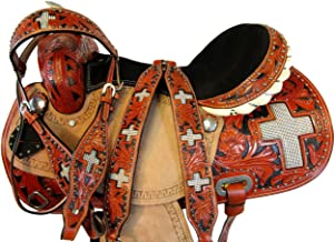 Orlov Hill Leather Co Western Cowboy Cross Show Pleasure Floral Tooled Horse Barrel Racing Saddle 15 16