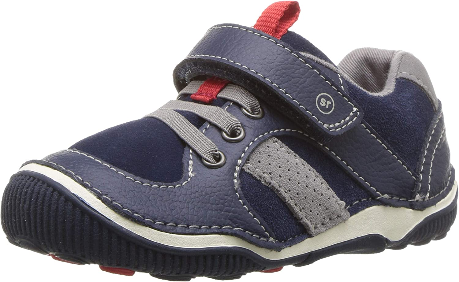 Stride Rite boys Jacksonville Mall Srtech Very popular! Wes Casual Sneaker Toddl Navy 6.5 Wide