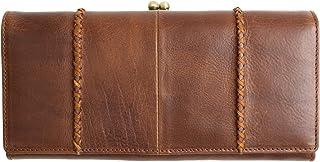 [ラフィカロ] がま口財布 レディース 本革 長財布 大容量 がまぐち イタリアンレザー 財布 牛革 小銭入れ カード入れ ひも付き