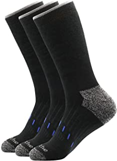 Avalanche Men's Quick Drying Merino Wool Blend Crew Socks With Arch Support 2-Pack