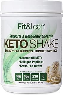 Fit & Lean Keto Shake Ketogenic Meal Replacement Powder, Vanilla