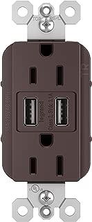 Pass And Seymour 3.1 A USB + Duplex 15A Dark Bronze