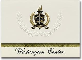 Signature Ankündigungen Washington Center (GrünVILLE, SC) Graduation Ankündigungen, Presidential Stil, Elite Paket 25 Stück mit Gold & Schwarz Metallic Folie Dichtung B078WFX6QJ  Sehr gute Qualität