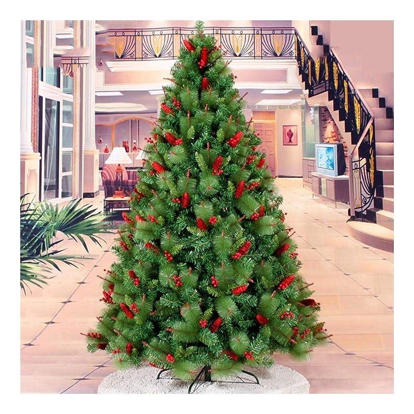 合わせて軸抽選松葉暗号レッドクリスマスツリー新年ホーム飾りレッドフルーツパインコーンミックスクリスマスデコレーション用品 (サイズ : 150cm)