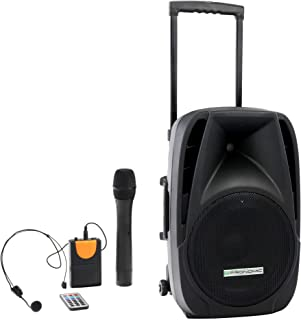 "Pronomic PH12AW Acctive Box 12""(Trolley Box, 12"" Speaker, 80 Watt (RMS), 5 uur looptijd, Bluetooth, MP3/SD/USB-speler, inc..."