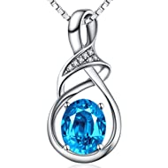 ❤️Gifts for Women❤️ Fine Jewelry for Women Natural Gemstone Sterling Silver Pendant...