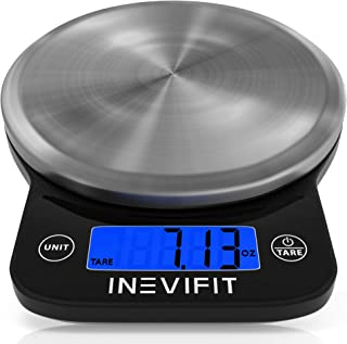 ميزان مطبخ الكتروني مع شاشة ال سي دي لوزن يصل حتى 6 كغم، بدقة 0.1 غرام