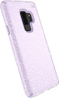 Speck Presidio Clear + Glitter Samsung Galaxy S9 Plus Case, Geode Purple with Gold Glitter/Geode Purple