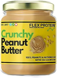 Flex Protein Natural Peanut Butter Crunch (Vegan - Non-GMO - Gluten Free, Unsweetened) (500 g)