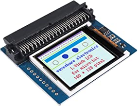 MakerFocus 1.8inch LCD for Micro Bit, Colorful Display Screen Module, 160x128 Pixels(Capable of Displaying 65K Colors) with SPI Interface, Onboard SRAM 23LC1024, Can be Used as Video Memory