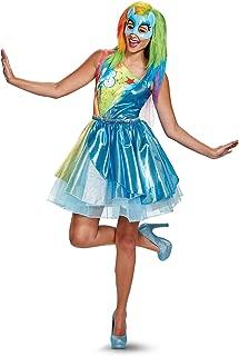 Women's Plus Size Rainbow Dash Movie Deluxe Adult Costume