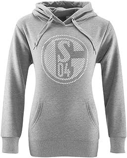 FC Schalke 04 Damen S04 Hoodie mit Kapuze und Fußballclub