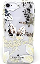 Kate Spade New York Birchway Floral Print Hardshell Case for iPhone 8 / iPhone 7 / iPhone 6, Gold/White/Clear
