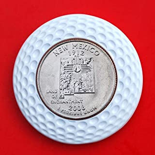 US 2008 New Mexico State Quarter BU Uncirculated Coin 3D Design 4 Leaf Clover Removable Golf Ball Marker Magnetic Poker Chip