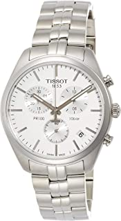 Tissot Men's White Dial Metal Band Watch - T101.417.11.031.00
