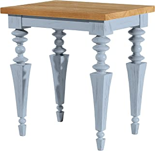 Asta Solid Wood End Table, Side Table, Glam Collection, GG-301/BLU (Blue)