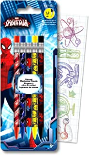 Marvel Ultimate Spider-Man Mechanical Pencil Set Bundle Includes 5 Amazing Spiderman Pencils with Colorful Fun Separately Licensed GWW Bookmark