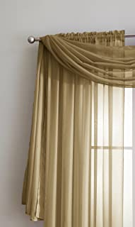 DecoSource Sheer Window Scarf Fabric Sheer Voile Curtain for Window Treatment - Add to Window Curtains for Enhanced Effect (56