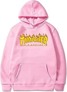 Thrasher Magazine Hoodie for Men Fashion Flame Sweatshirt Pullover Unisex